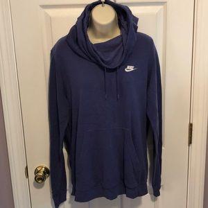 NIKE Purple Cowl Neck Hoodie Sweatshirt